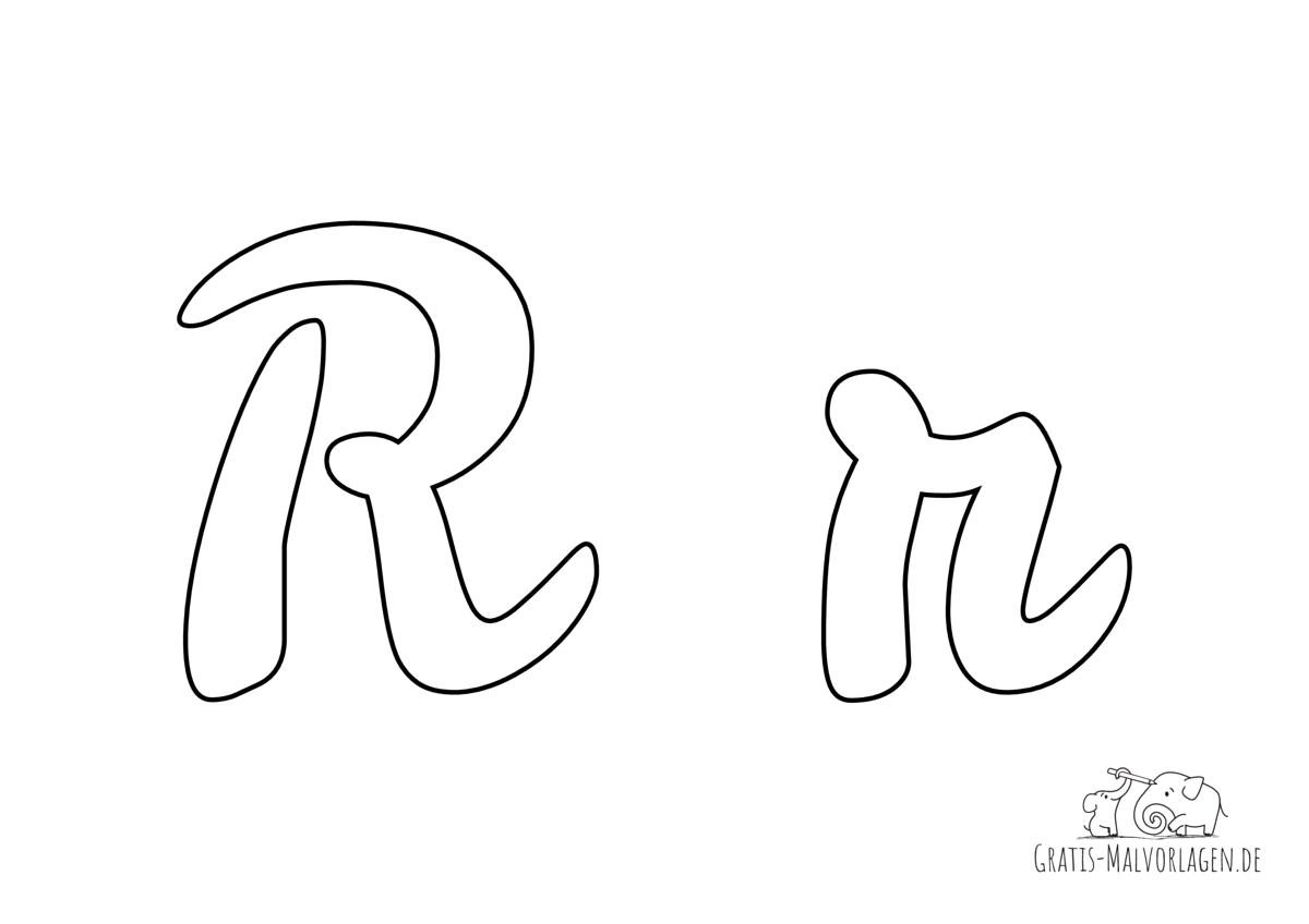 Ausmalbild Buchstabe großes und kleines R