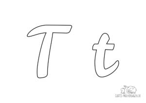 Ausmalbild Buchstabe großes und kleines T