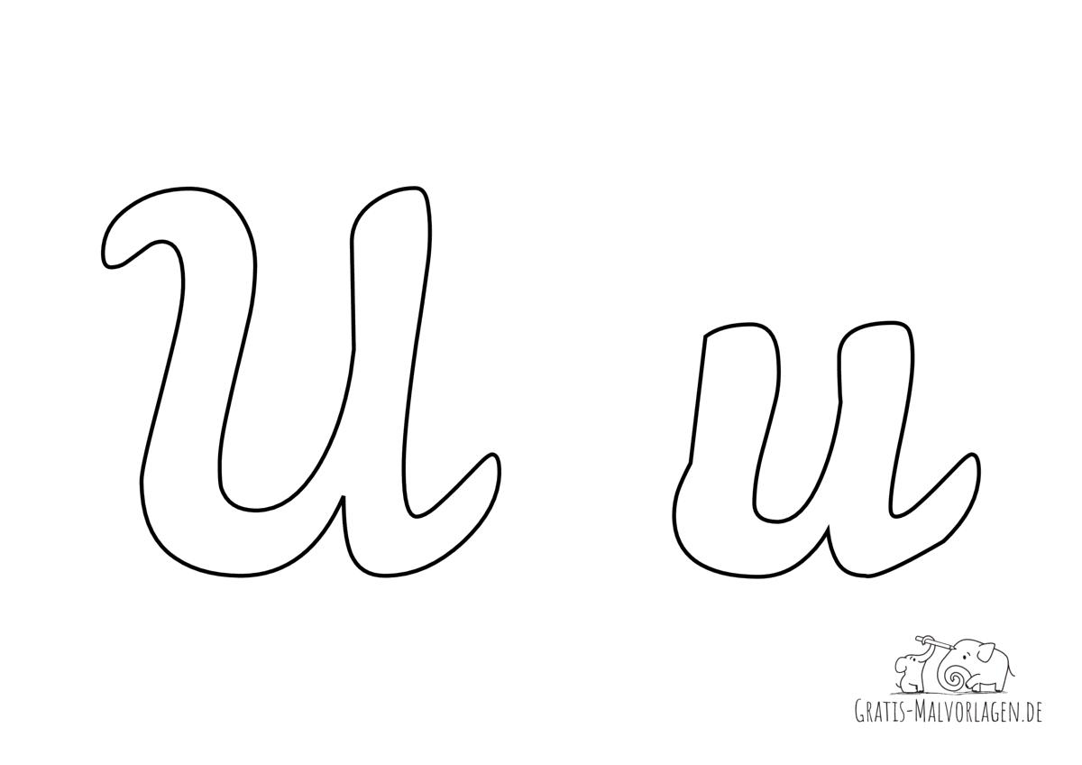 Ausmalbild Buchstabe großes und kleines U