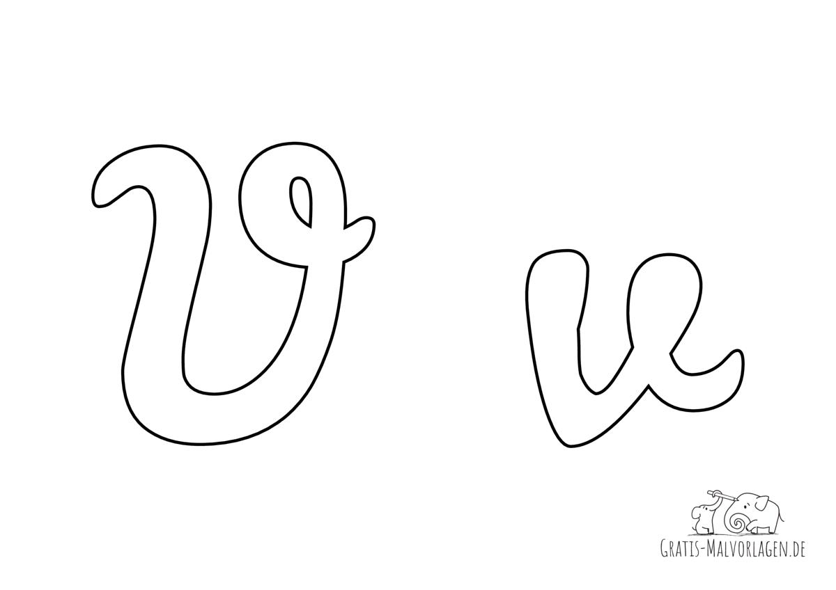 Ausmalbild Buchstabe großes und kleines V