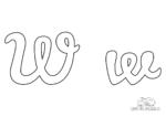 Ausmalbild Buchstabe großes und kleines W