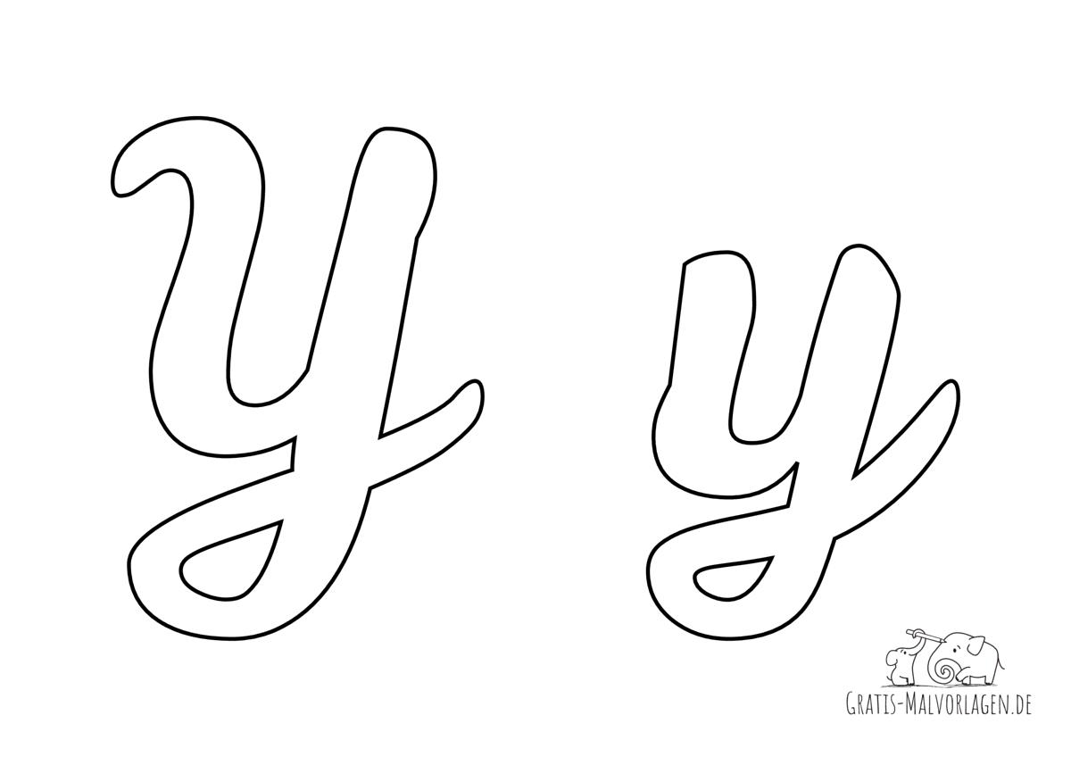 Ausmalbild Buchstabe großes und kleines Y