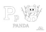 Buchstabe P steht für Panda (Englisch)