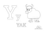 Buchstabe Y steht für Yak (Englisch)