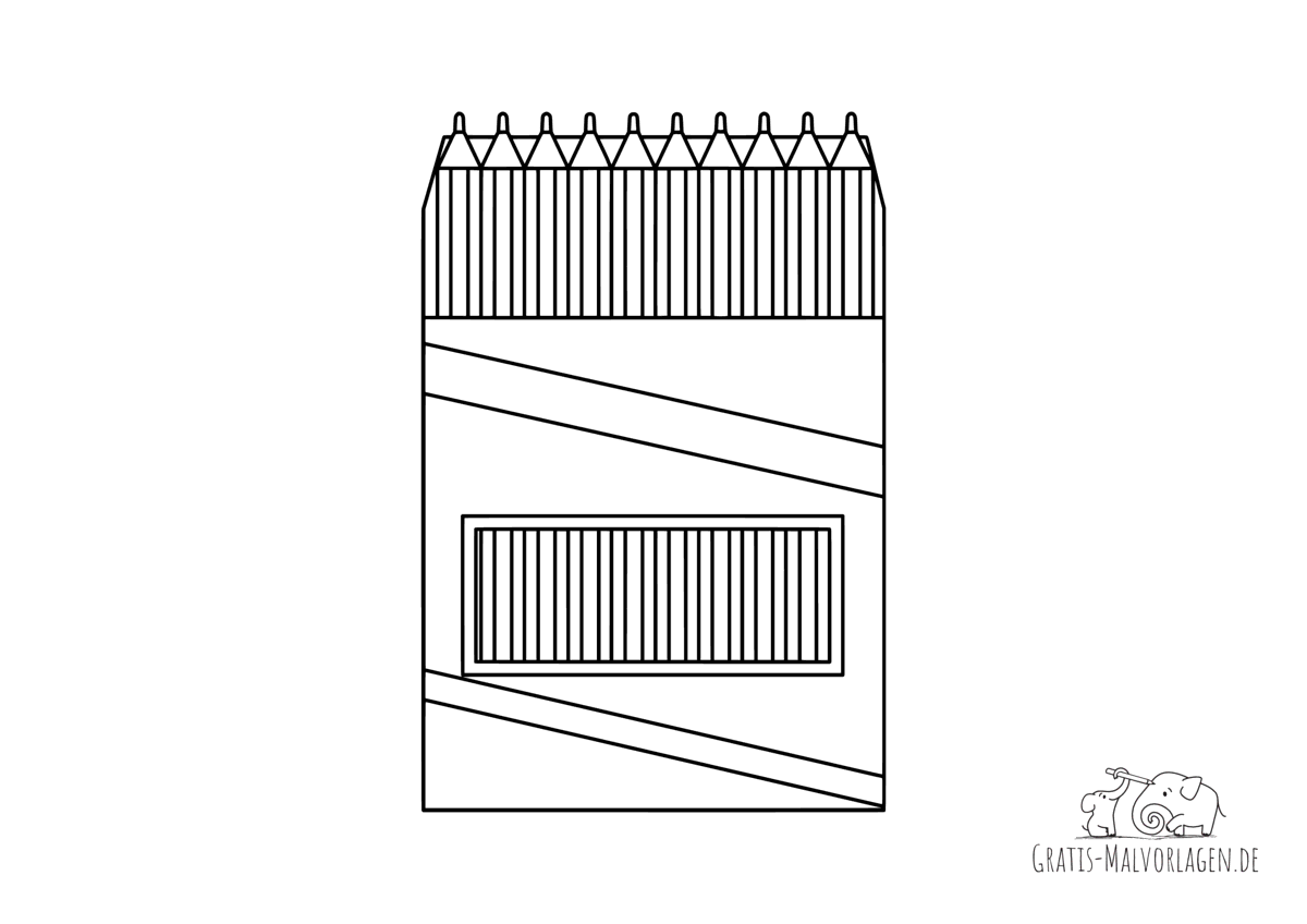 Ausmalbild Buntstifte