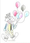 Ausmalbild Clown - Nadine 5 Jahre
