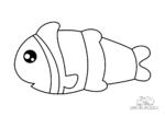 Ausmalbild Clownfisch
