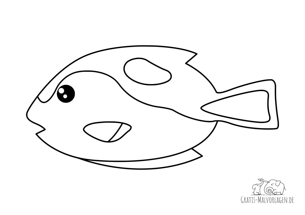 Ausmalbild Doktorfisch