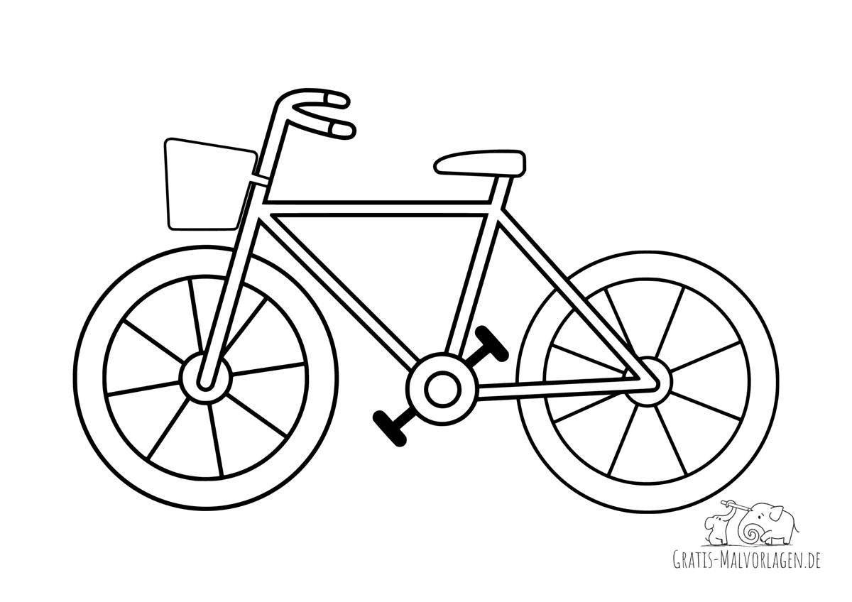 Ausmalbild Fahrrad