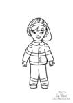 Ausmalbild Feuerwehrmann