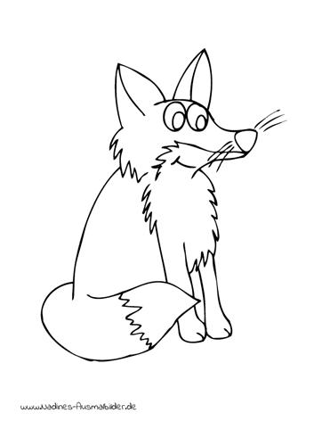 Ausmalbild Freudiger Fuchs