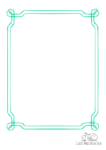 Ausmalbild Geschwungener Rahmen grün