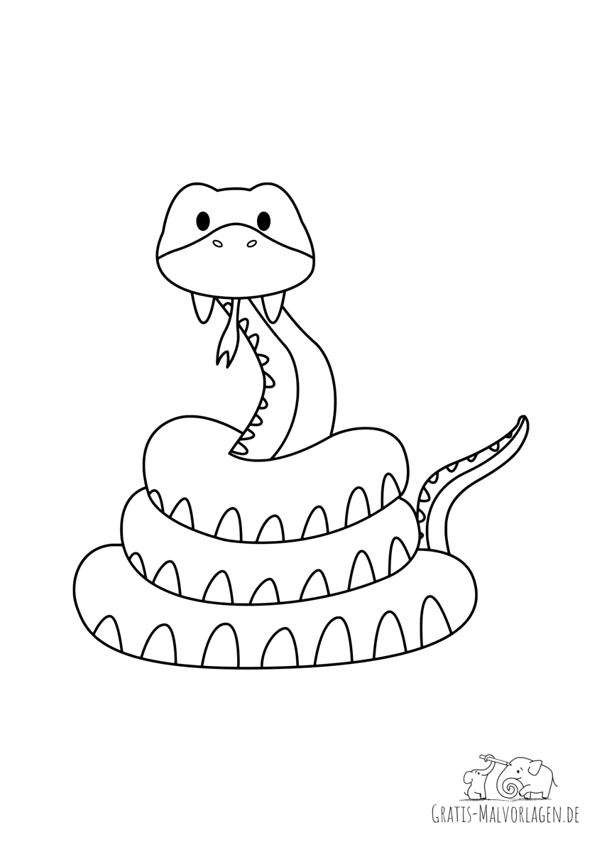 Glückliche Schlange