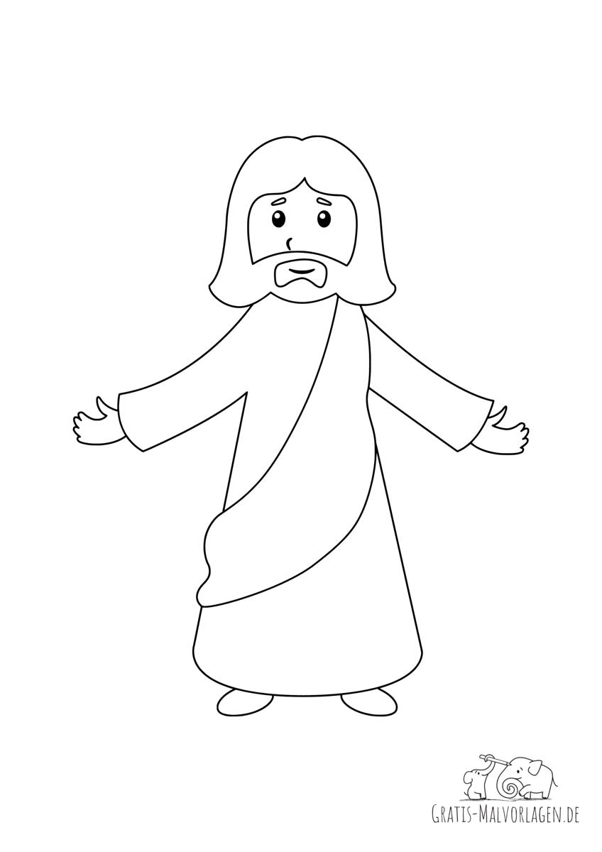 Ausmalbild Jesus