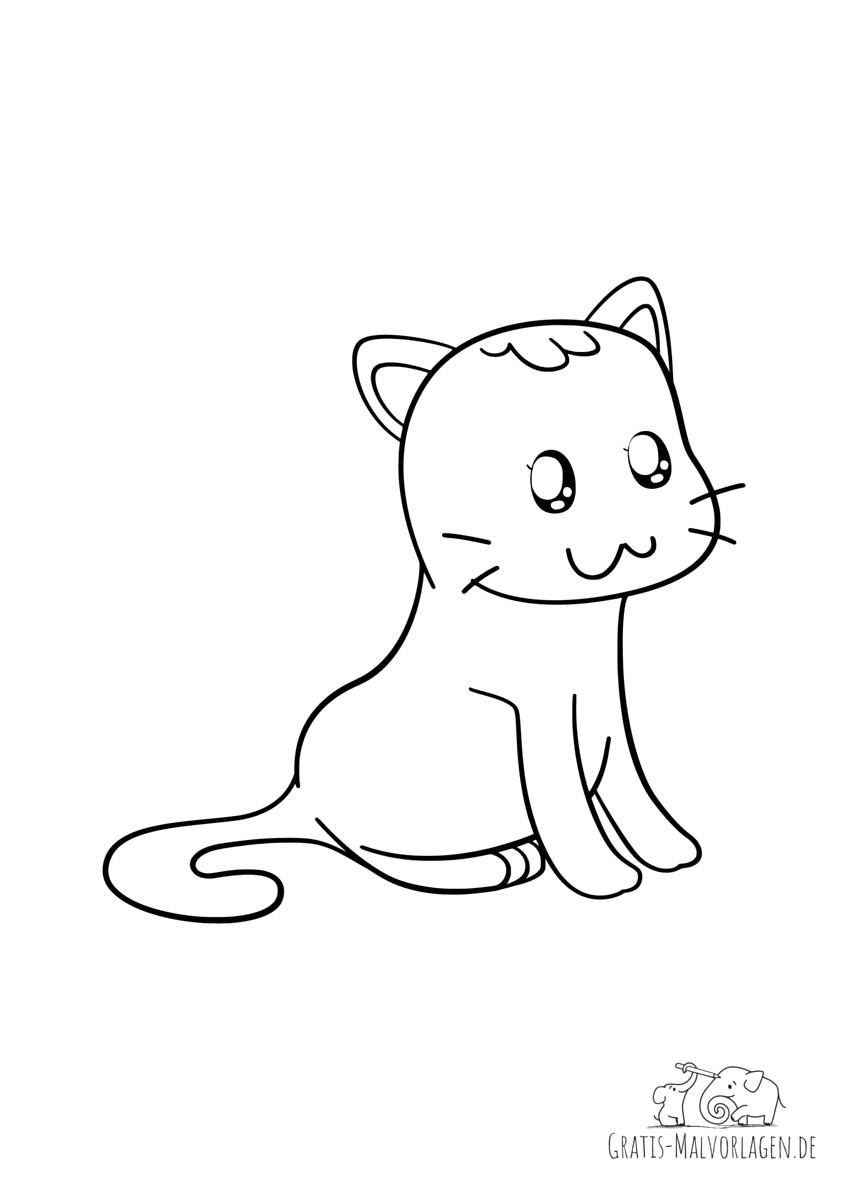 Katze mit Anime Augen