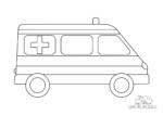 Krankenwagen mit Streifen