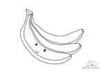 Ausmalbild Lächelnde Banane
