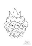 Ausmalbild Lächelnde Brombeeren