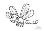 Lächelnde Libelle