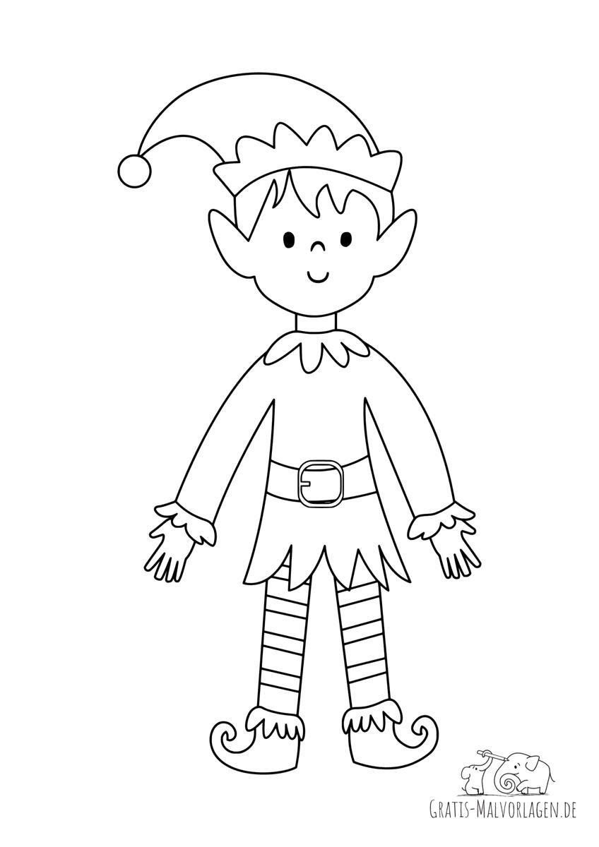 Lächelnder Elf