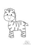 Ausmalbild Lächelndes Zebra