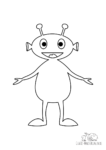 Ausmalbild Lustiger Alien