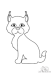 Ausmalbild Lynx