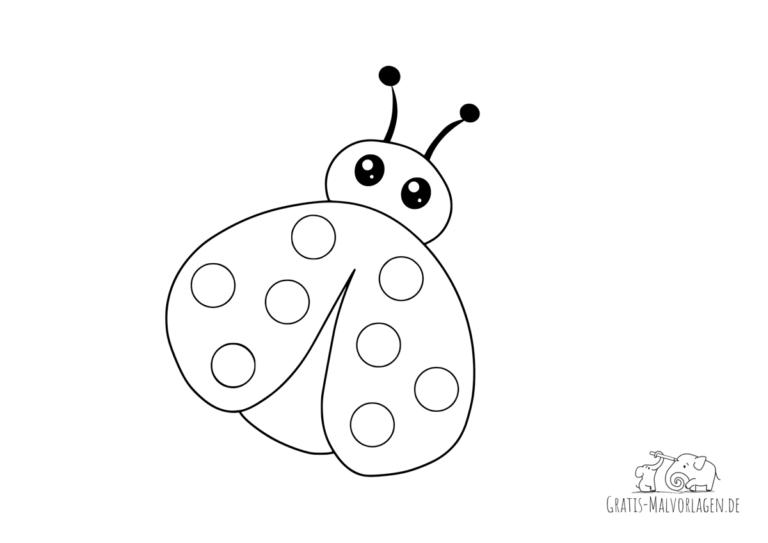 ausmalbilder insekten  gratis malvorlagen
