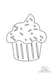 Ausmalbild Muffin