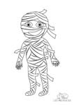 Ausmalbild Mumie