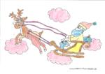 Ausmalbild Nikolaus mit Rentier - Jona 8 Jahre