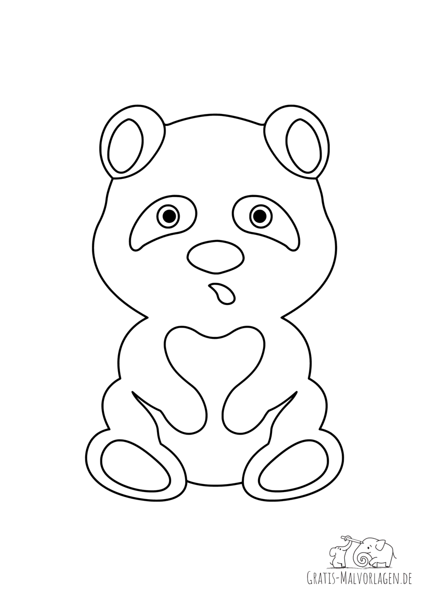 Ausmalbild Panda