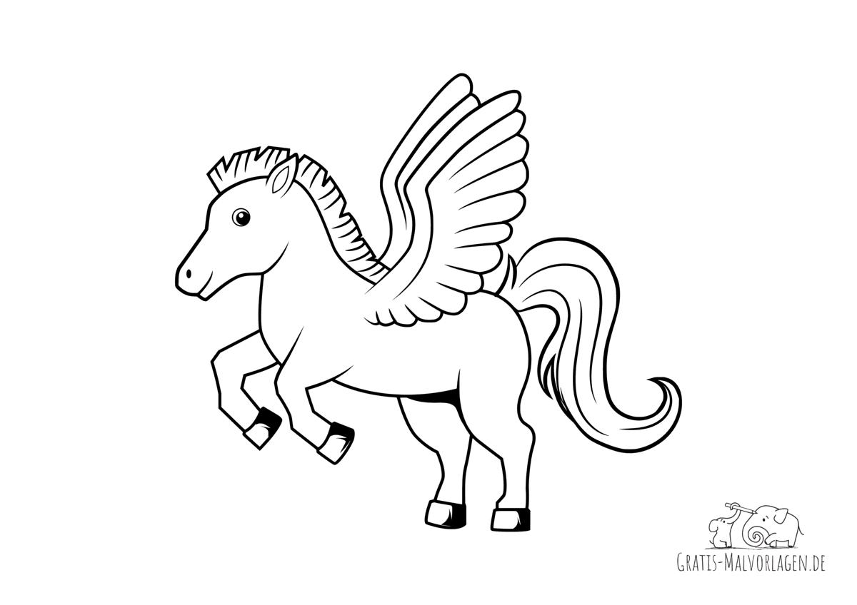 Ausmalbild Pegasus