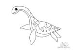 Ausmalbild Plesiosaurus