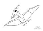 Ausmalbild Pterodactyl