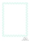 Ausmalbild Rahmen Schlangenlinien grün
