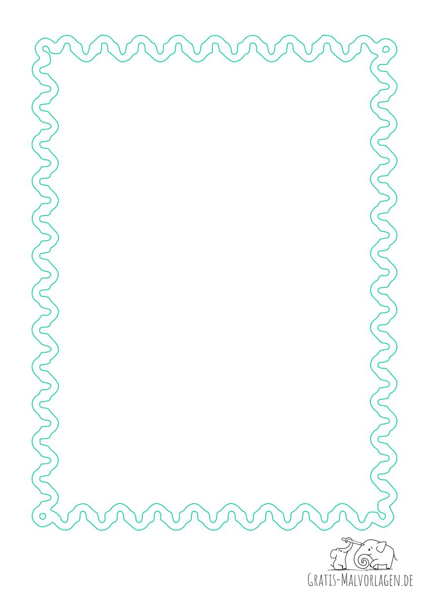 Rahmen Schlangenlinien grün