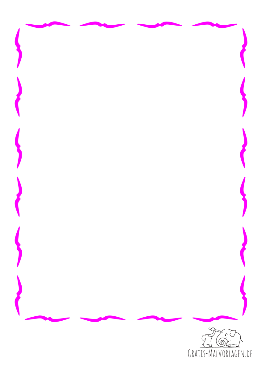 Rahmen Vögel pink