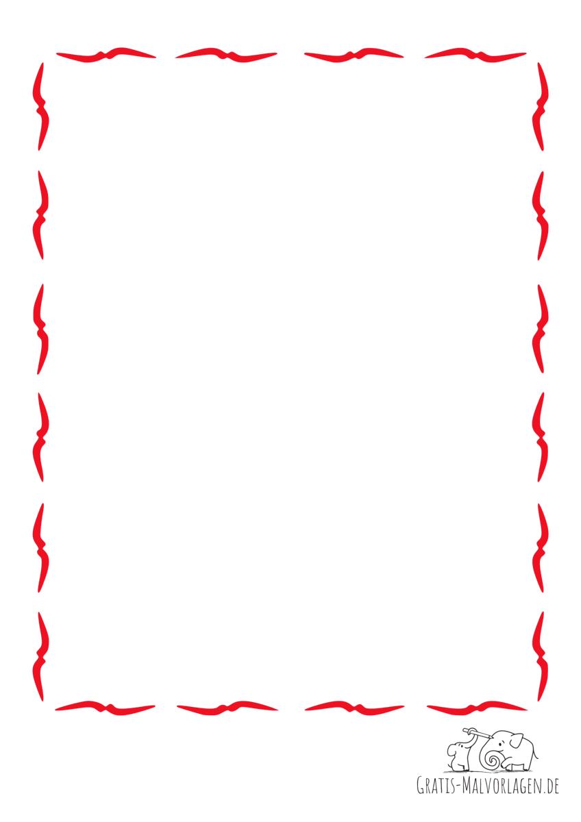 Rahmen Vögel rot