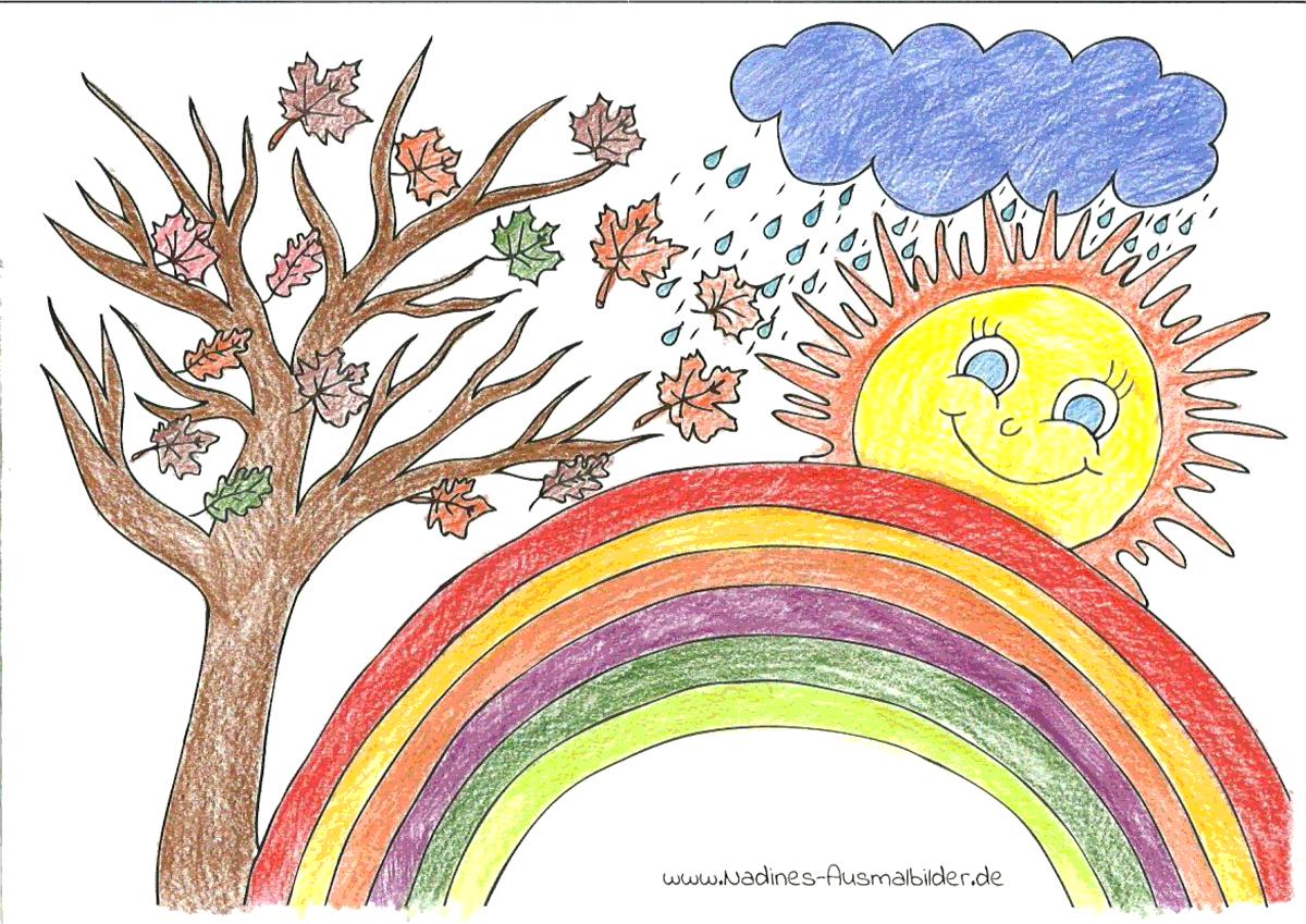 Ausmalbild Regenbogen - Eva 10 Jahre