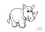 Ausmalbild Rhino