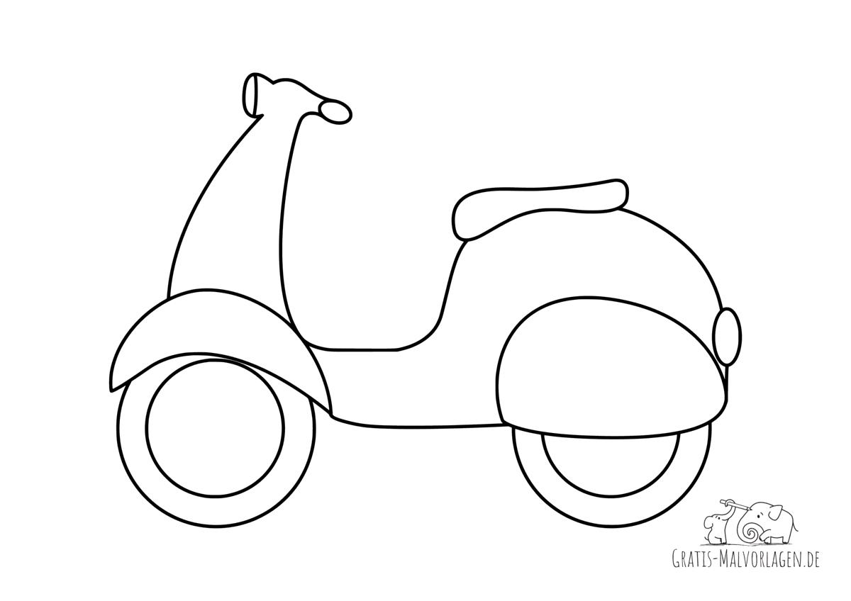 Ausmalbild Roller