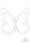 Ausmalbild Schmetterling einfach gezeichnet