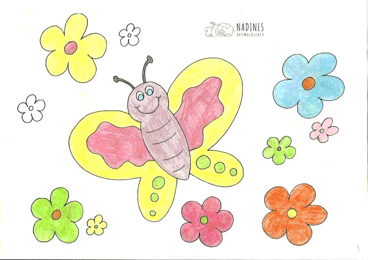 Ausmalbild Schmetterling - Susi 6 Jahre