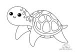 Ausmalbild Seeschildkröte