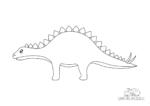 Ausmalbild Stegosaurus