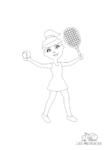 Ausmalbild Tennisspielerin