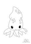 Ausmalbild Tintenfisch