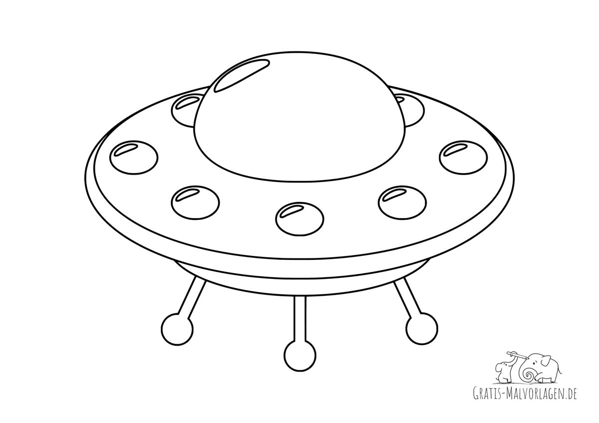 Ausmalbild Ufo