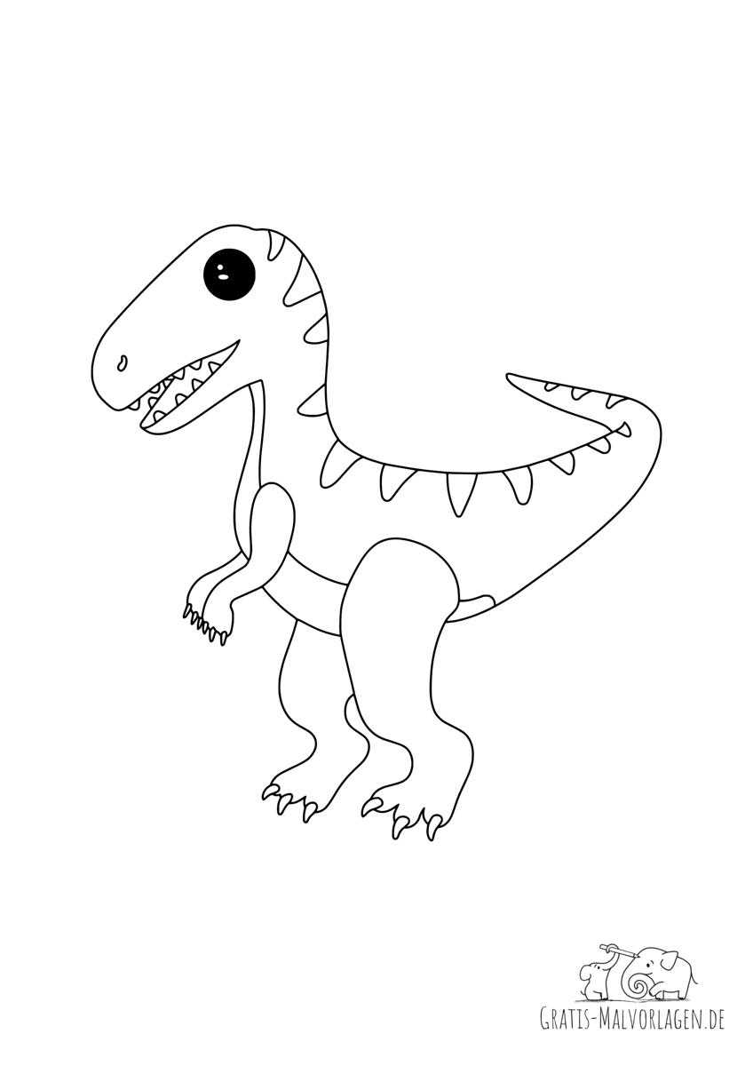 Ausmalbild Velociraptor